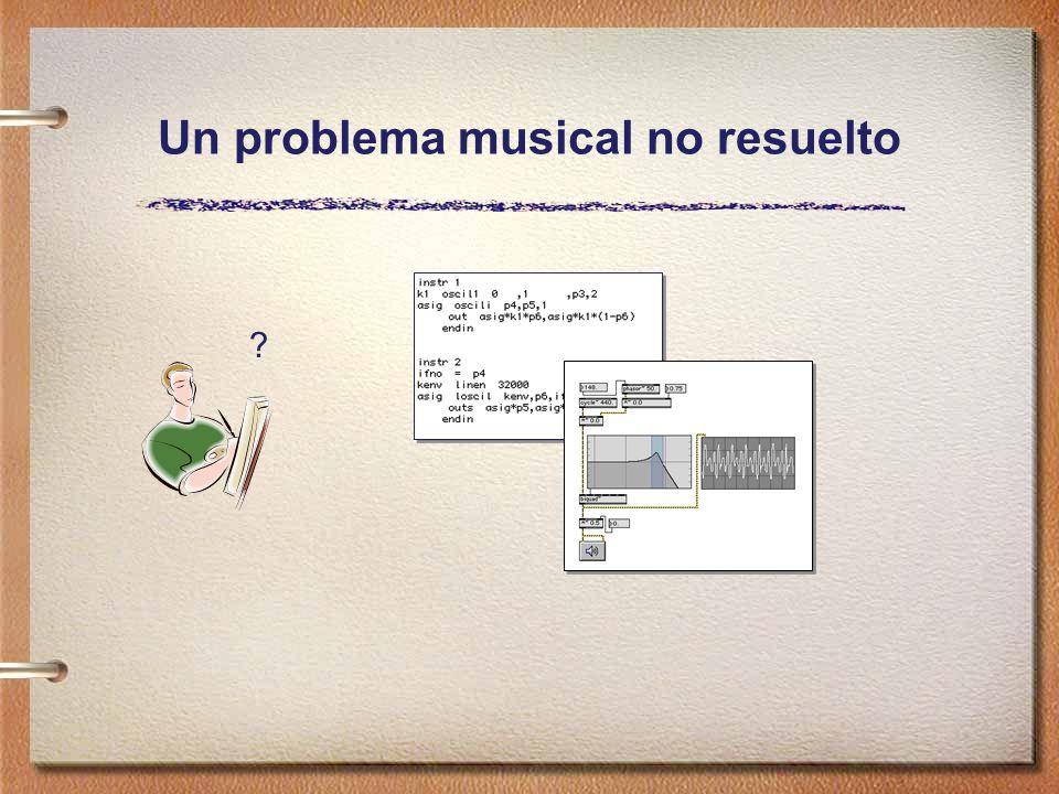 Un problema musical no resuelto ?