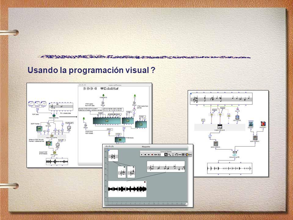 Usando la programación visual ?