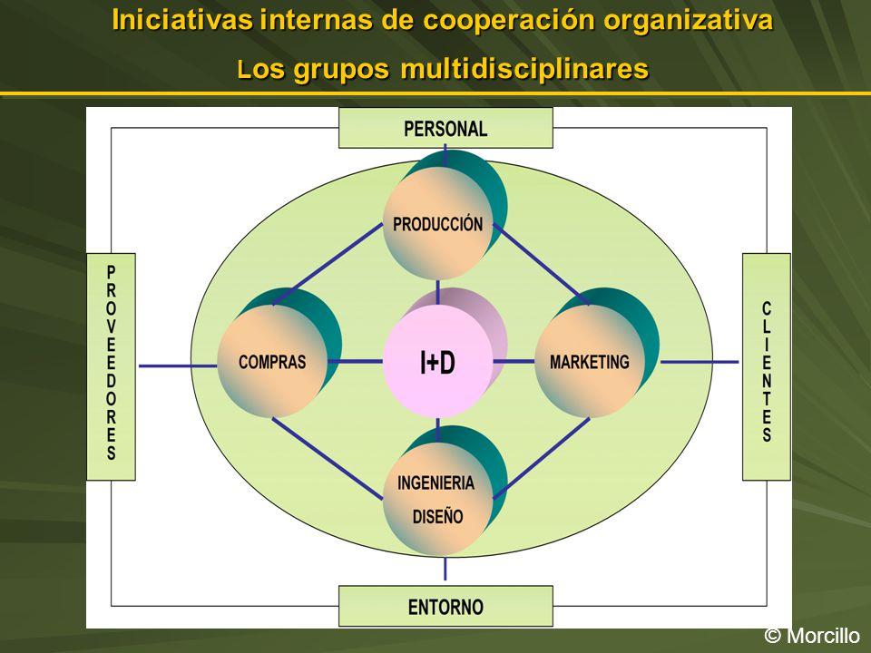 Iniciativas internas de cooperación organizativa L os grupos multidisciplinares © Morcillo