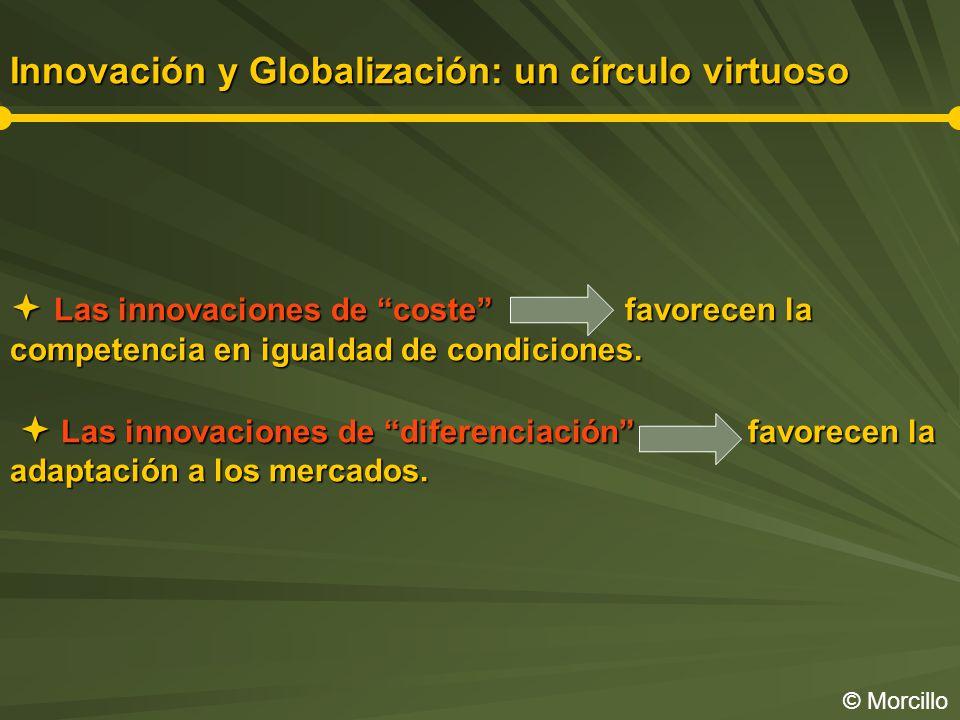 Innovación y Globalización: un círculo virtuoso Las innovaciones de coste favorecen la competencia en igualdad de condiciones.
