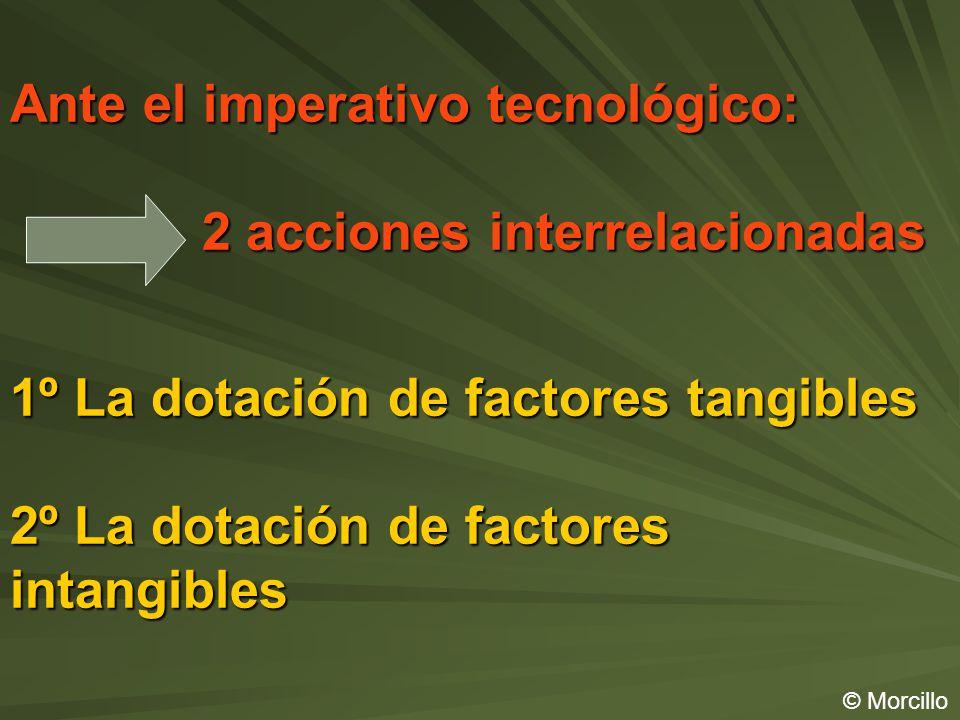 Ante el imperativo tecnológico: 2 acciones interrelacionadas 1º La dotación de factores tangibles 2º La dotación de factores intangibles © Morcillo