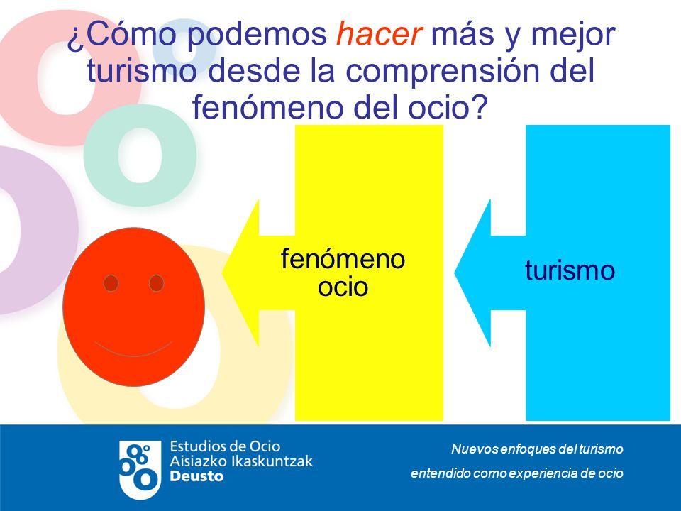 Nuevos enfoques del turismo entendido como experiencia de ocio ¿Cómo podemos hacer más y mejor turismo desde la comprensión del fenómeno del ocio? fen