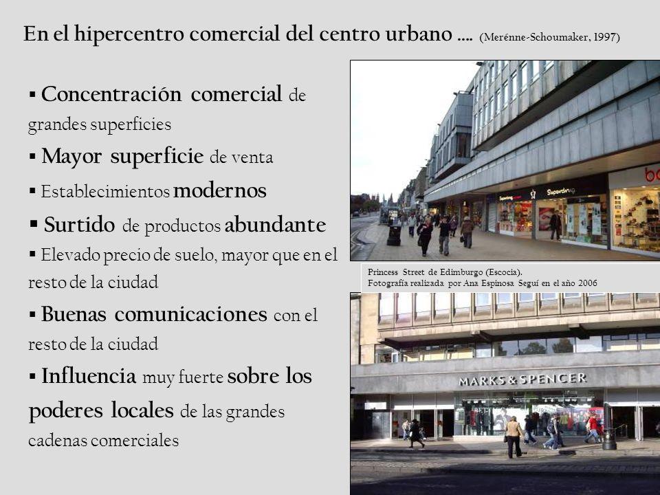 En el hipercentro comercial del centro urbano ….