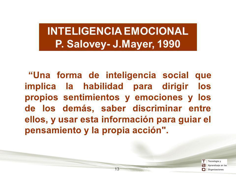 Una forma de inteligencia social que implica la habilidad para dirigir los propios sentimientos y emociones y los de los demás, saber discriminar entr