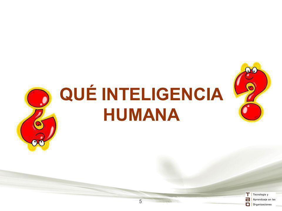 QUÉ INTELIGENCIA HUMANA 5