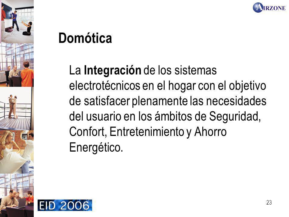 23 La Integración de los sistemas electrotécnicos en el hogar con el objetivo de satisfacer plenamente las necesidades del usuario en los ámbitos de S