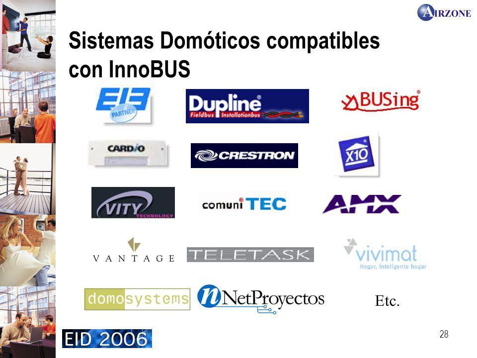 28 Sistemas Domóticos compatibles con InnoBUS Etc.