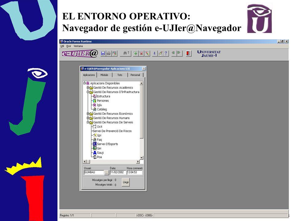 4 EL ENTORNO OPERATIVO: Navegador de gestión e-UJIer@Navegador