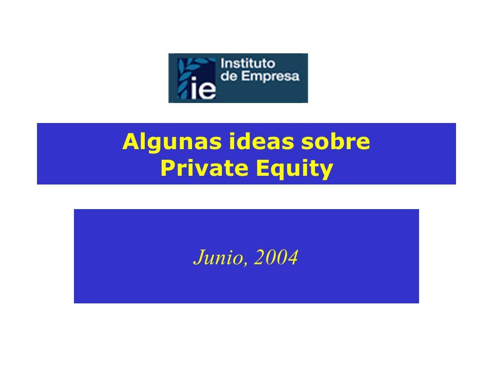 Algunas ideas sobre Private Equity Junio, 2004