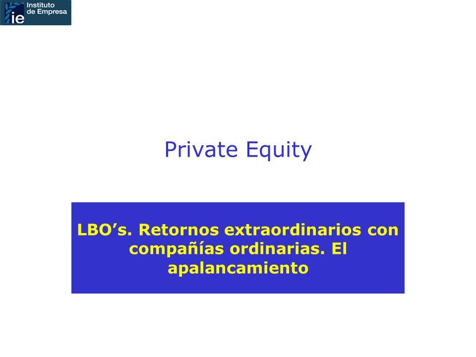 Private Equity LBOs. Retornos extraordinarios con compañías ordinarias. El apalancamiento