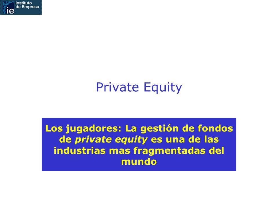 Private Equity Los jugadores: La gestión de fondos de private equity es una de las industrias mas fragmentadas del mundo
