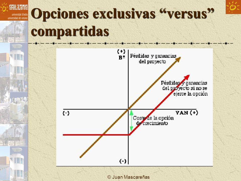© Juan Mascareñas Opciones exclusivas versus compartidas