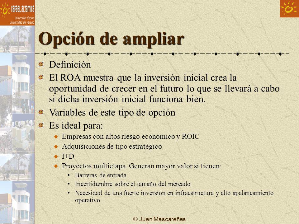 © Juan Mascareñas Opción de ampliar Definición El ROA muestra que la inversión inicial crea la oportunidad de crecer en el futuro lo que se llevará a