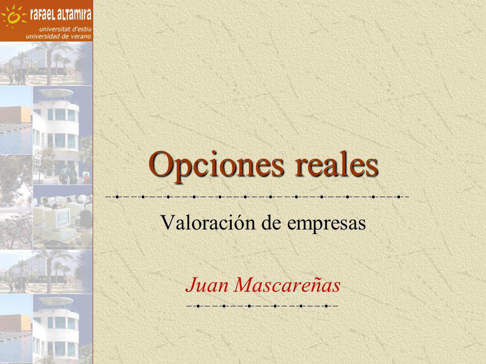 Opciones reales Valoración de empresas Juan Mascareñas