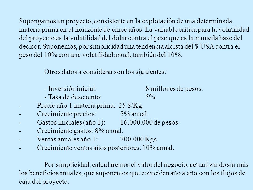FIGURA 1.DISTRIBUCION DEL VALOR ACTUAL DEL PROYECTO CON OPCION DE CRECIMIENTO
