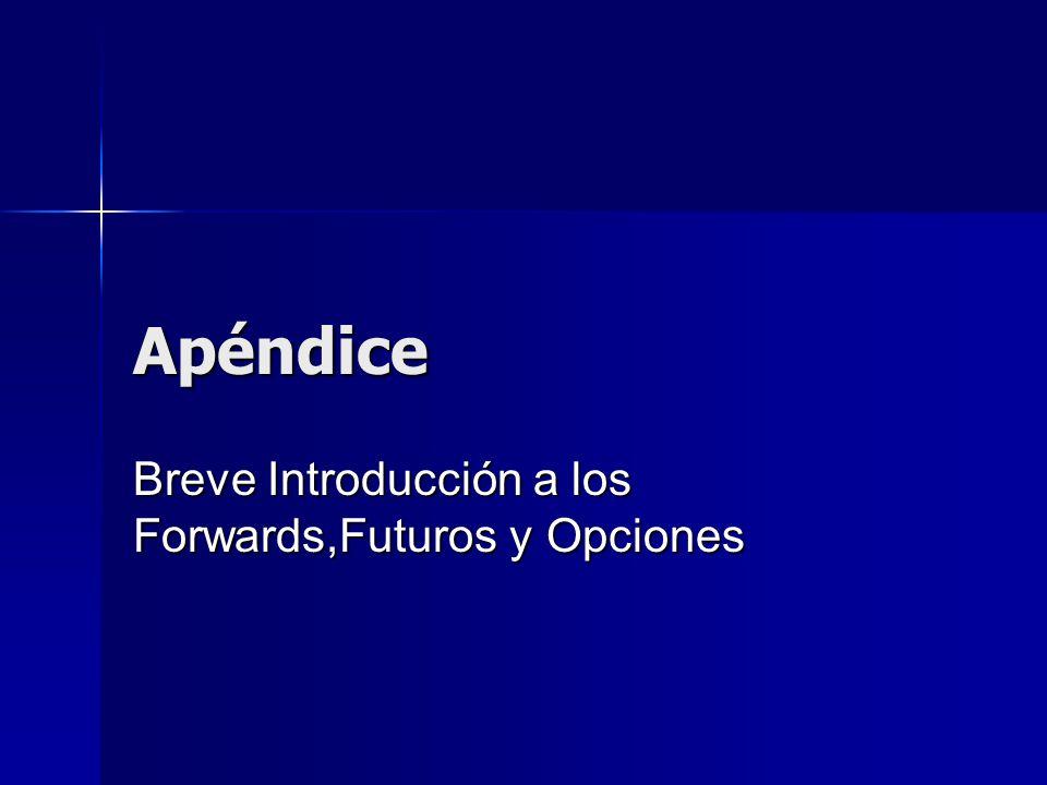 Apéndice Breve Introducción a los Forwards,Futuros y Opciones