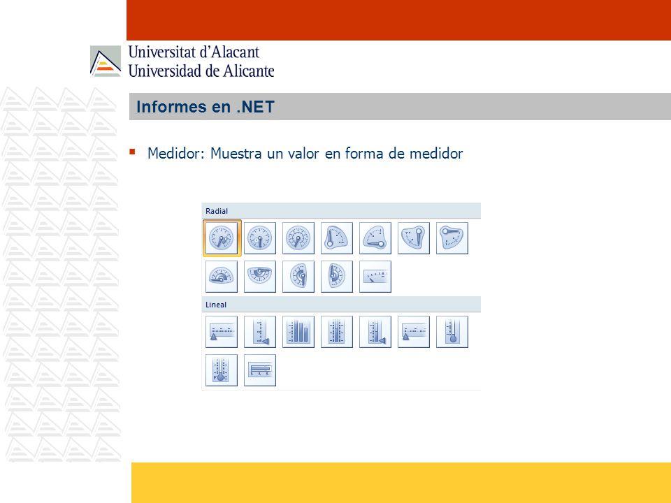 Informes en.NET Medidor: Muestra un valor en forma de medidor