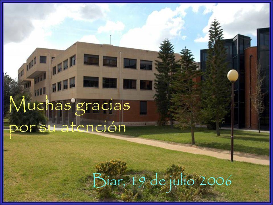 Muchas gracias por su atención Biar, 19 de julio 2006
