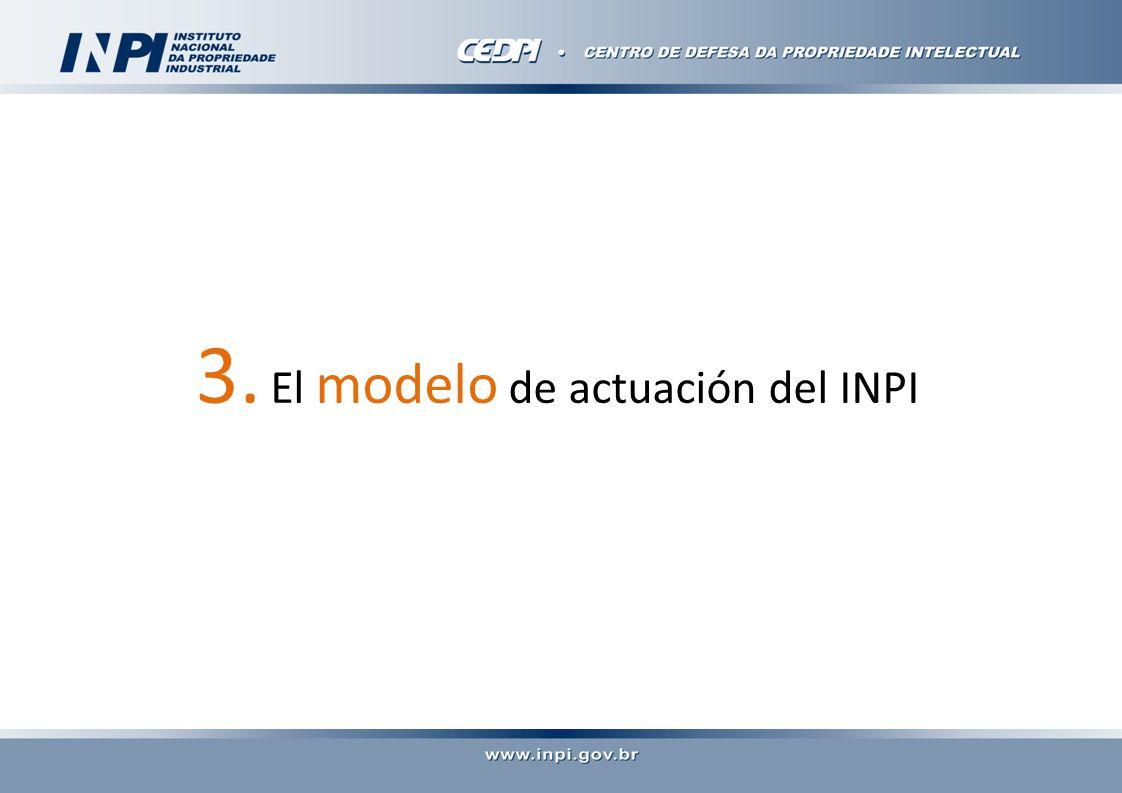 3. El modelo de actuación del INPI