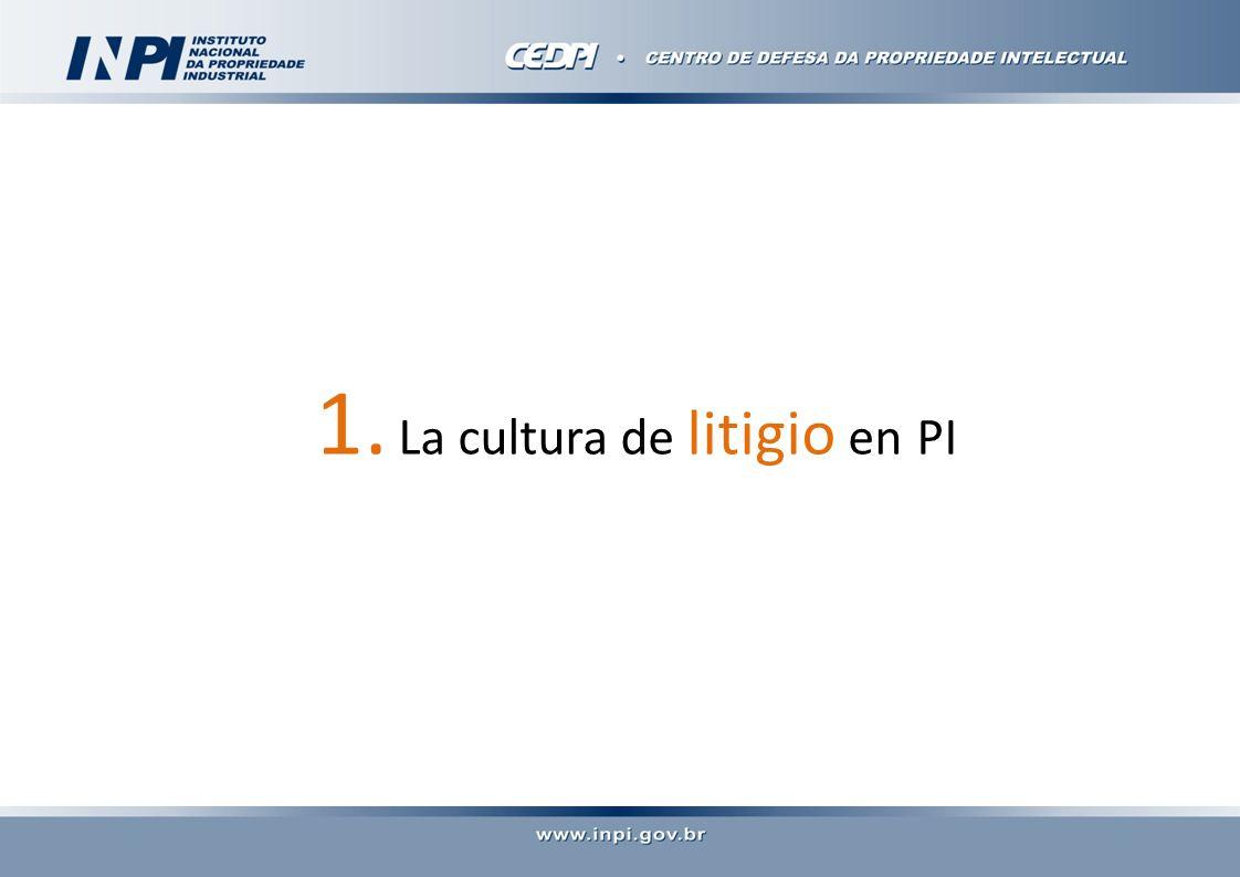1. La cultura de litigio en PI
