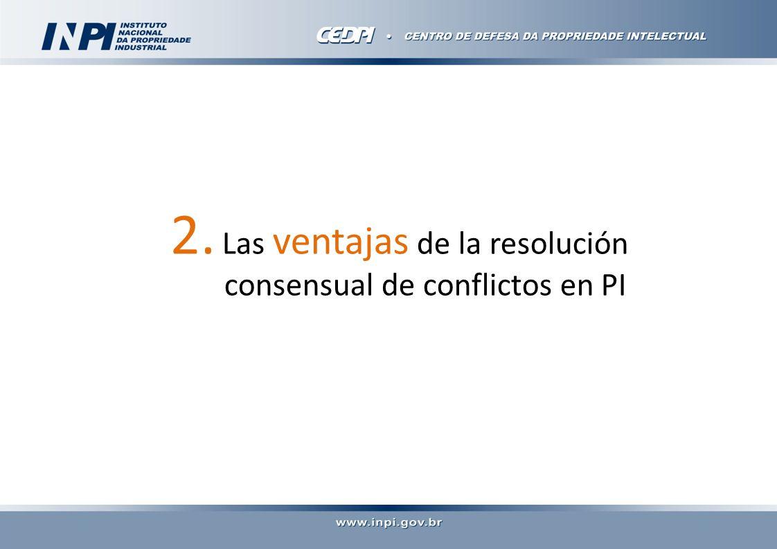 2. Las ventajas de la resolución consensual de conflictos en PI