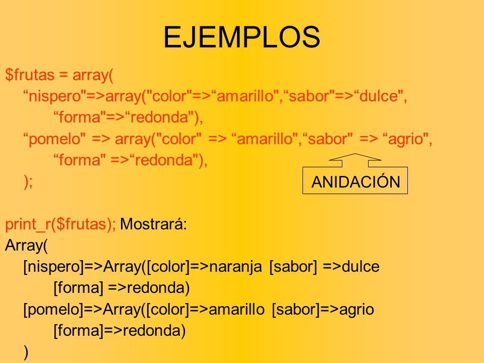 $frutas = array( nispero