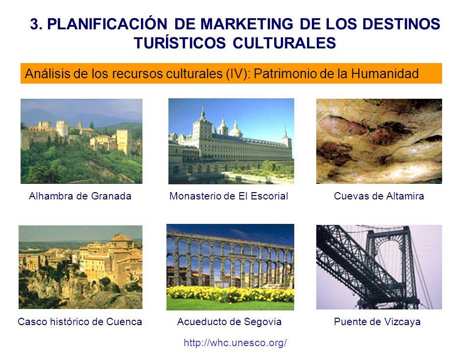 3. PLANIFICACIÓN DE MARKETING DE LOS DESTINOS TURÍSTICOS CULTURALES Análisis de los recursos culturales (IV): Patrimonio de la Humanidad Alhambra de G