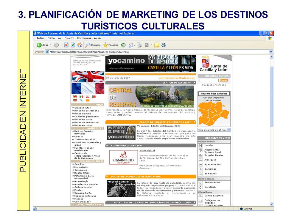 3. PLANIFICACIÓN DE MARKETING DE LOS DESTINOS TURÍSTICOS CULTURALES PUBLICIDAD EN INTERNET