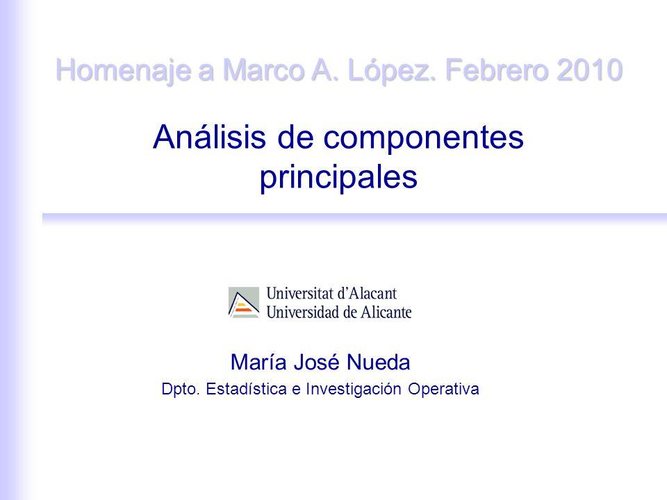 Análisis de componentes principales María José Nueda Dpto.