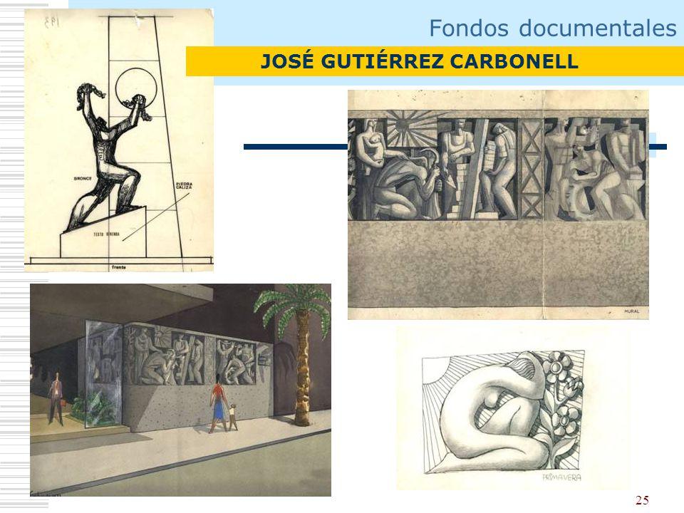 25 Fondos documentales JOSÉ GUTIÉRREZ CARBONELL