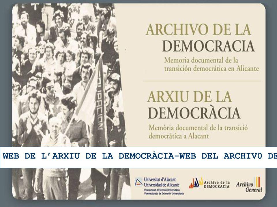 26 WEB DE LARXIU DE LA DEMOCRÀCIA-WEB DEL ARCHIV0 DE