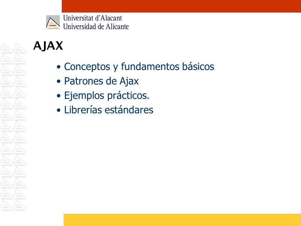 Paso de parámetros (GET) En la petición AJAX podemos pasar parámetros tanto por POST como por GET a nuestro servidor.