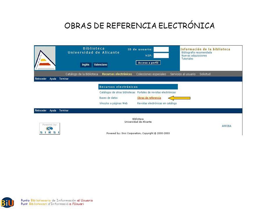 OBRAS DE REFERENCIA ELECTRÓNICA