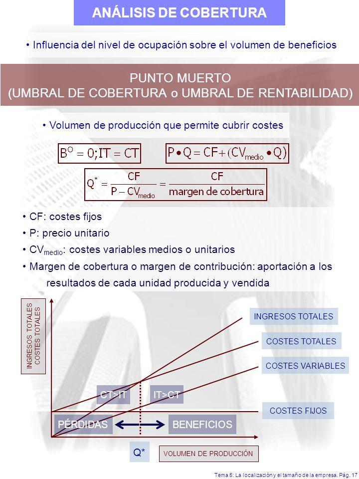 Tema 5: La localización y el tamaño de la empresa.