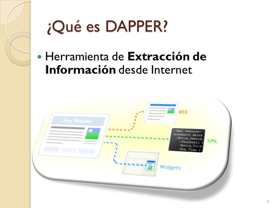 ¿Qué es DAPPER Herramienta de Extracción de Información desde Internet 4
