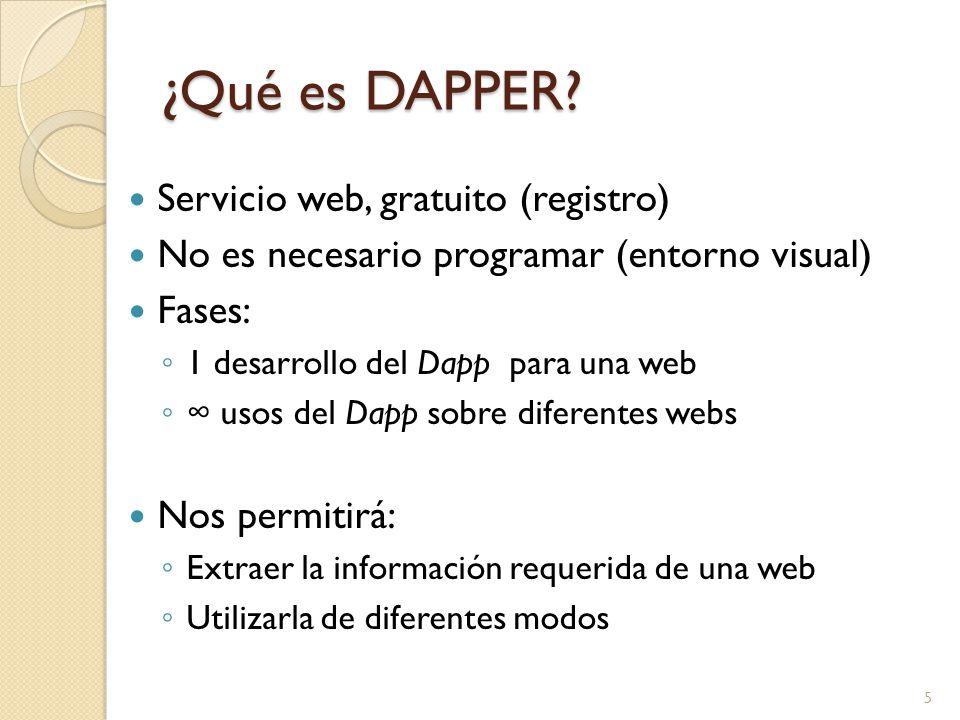 ¿Qué es DAPPER.
