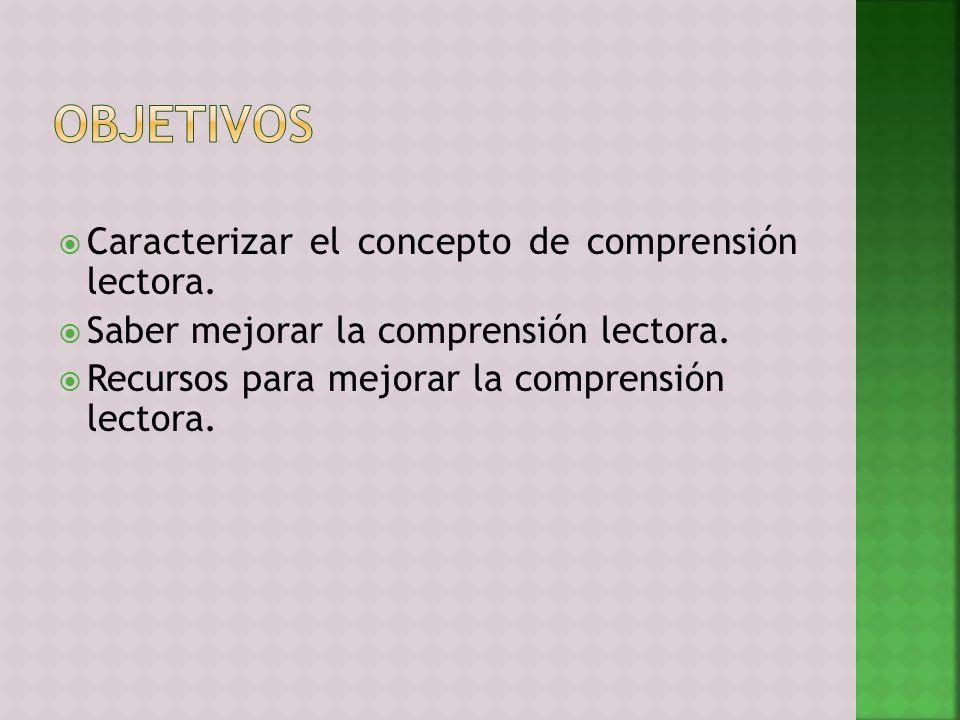1.La comprensión lectora. Concepto y caracterización.