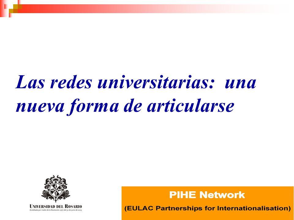 redes universitarias de cooperación: resultados relaciones horizontales objetivo común y específico comunicación permanente y multidireccional interacción y complementariedad infraestructura y talento humano internacionalización académica e investigativa