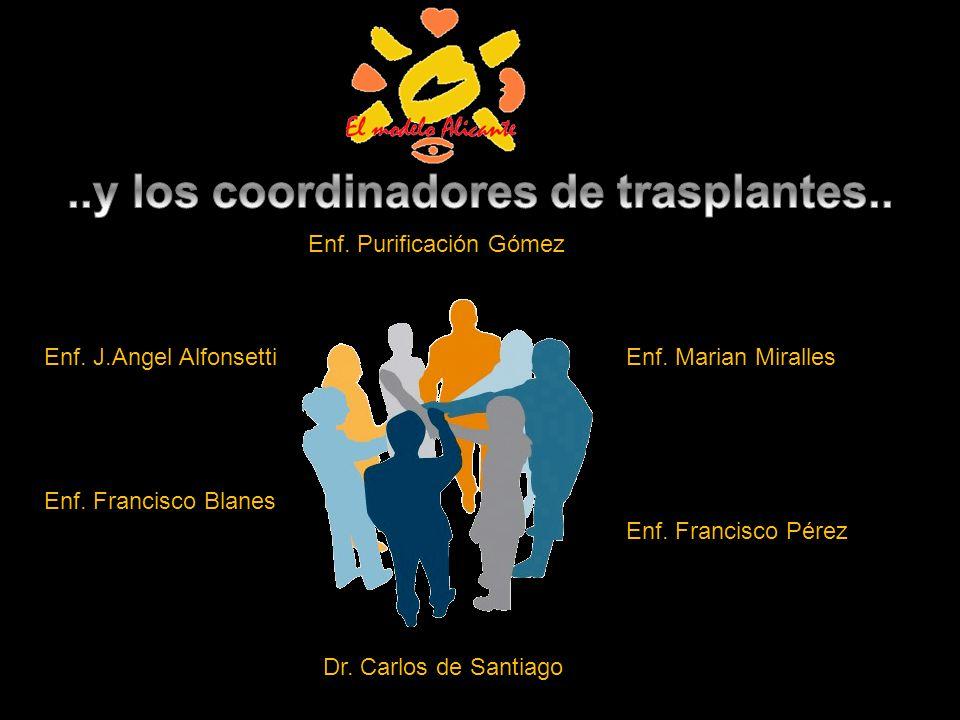 Enf. Francisco Pérez Dr. Carlos de Santiago Enf. Francisco Blanes Enf. J.Angel AlfonsettiEnf. Marian Miralles Enf. Purificación Gómez