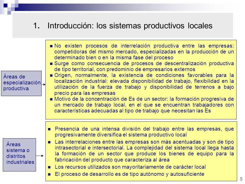 16 4. Clusters y distritos industriales