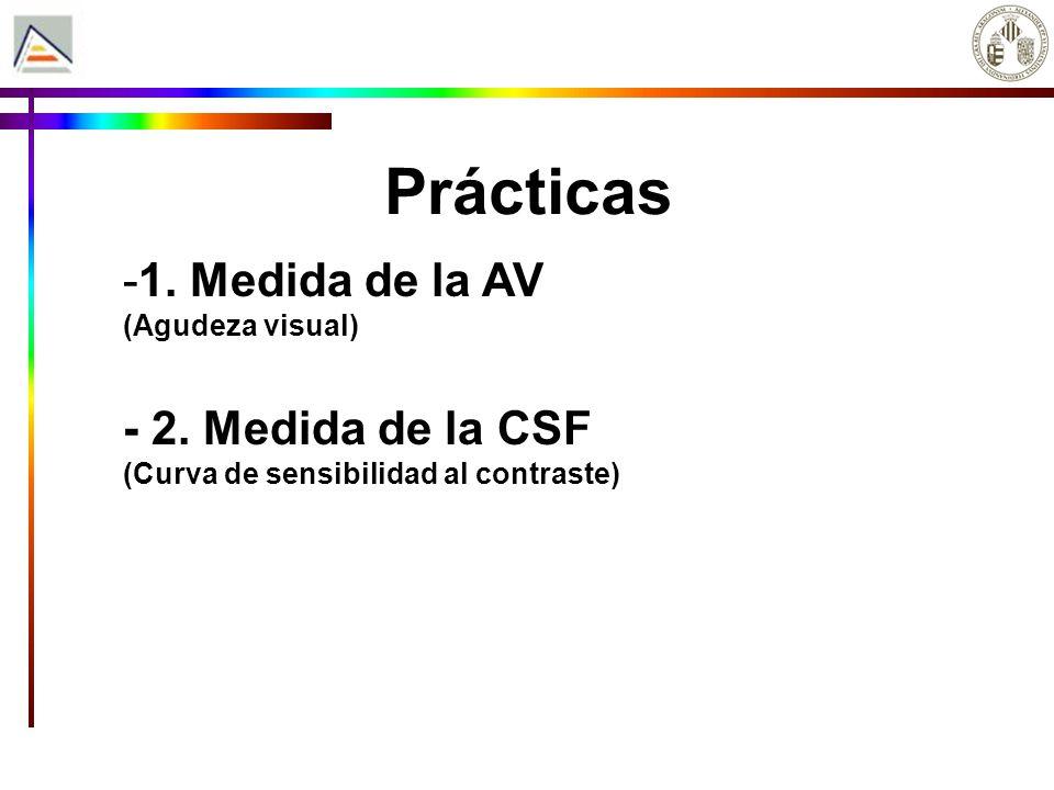 Prácticas -1.Medida de la AV (Agudeza visual) - 2.