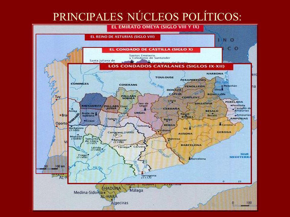 PRINCIPALES NÚCLEOS POLÍTICOS: