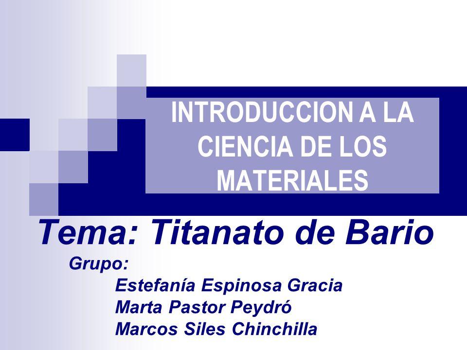 ÍNDICE Introducción Propiedades Estructura Composición Síntesis Aplicaciones Conclusión Bibliografía