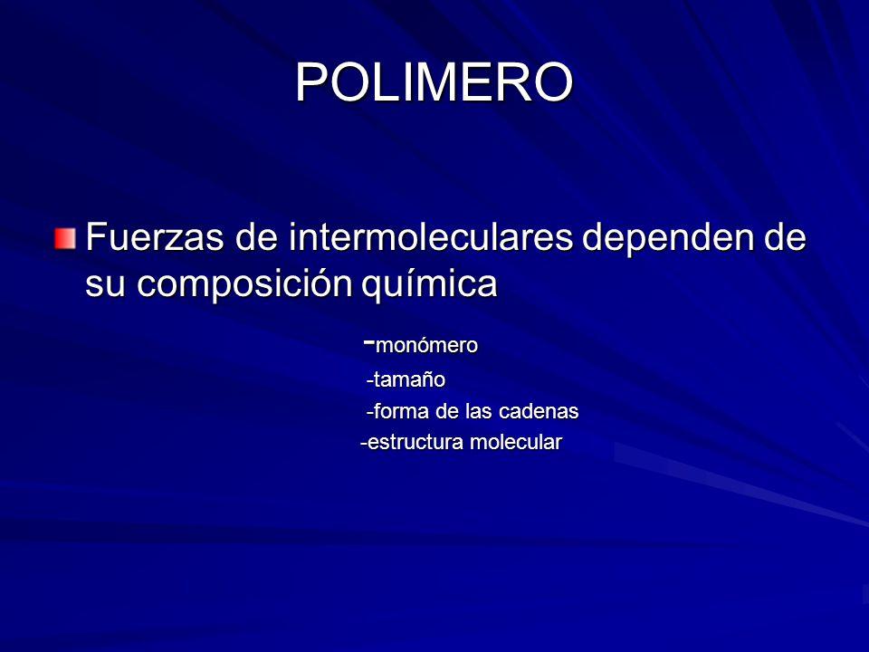 TIPOS DE FUERZA INTERMOLECULARES Fuerzas de Van der Waals.(mas comunes) FUERZAS DE ATRACCIÓN DIPOLO- DIPOLO ENLACES DE H OTROS POLIMEROS Tipo de enlace Kcal/mol V.