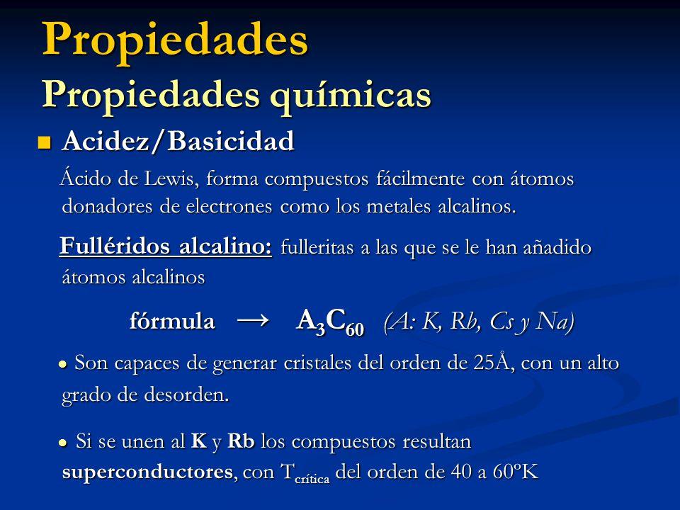 Propiedades Propiedades químicas Acidez/Basicidad Acidez/Basicidad Ácido de Lewis, forma compuestos fácilmente con átomos donadores de electrones como