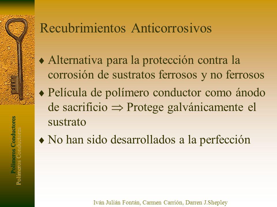 Polímeros Conductores Iván Julián Fontán, Carmen Carrión, Darren J.Shepley Recubrimientos Anticorrosivos Alternativa para la protección contra la corr