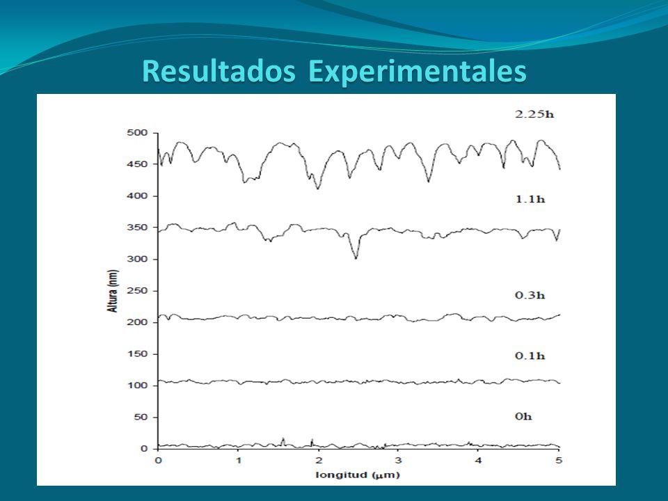ResultadosExperimentales Resultados Experimentales Aparte de obtener las imágenes también podemos analizar la rugosidad de la muestra y su evolución e