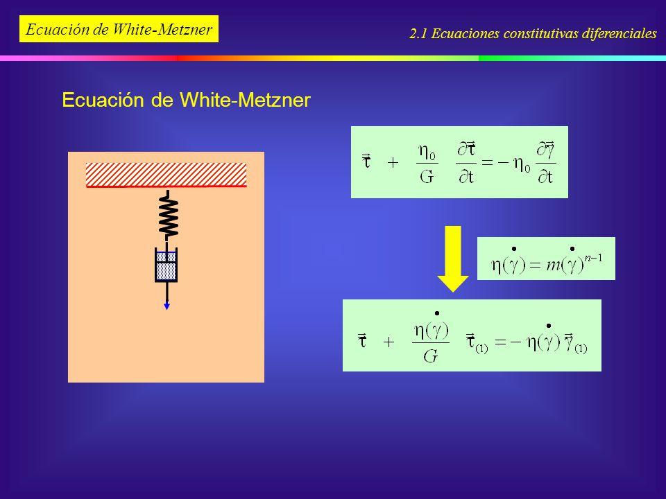 Ecuación de White-Metzner 2.1 Ecuaciones constitutivas diferenciales Ecuación de White-Metzner