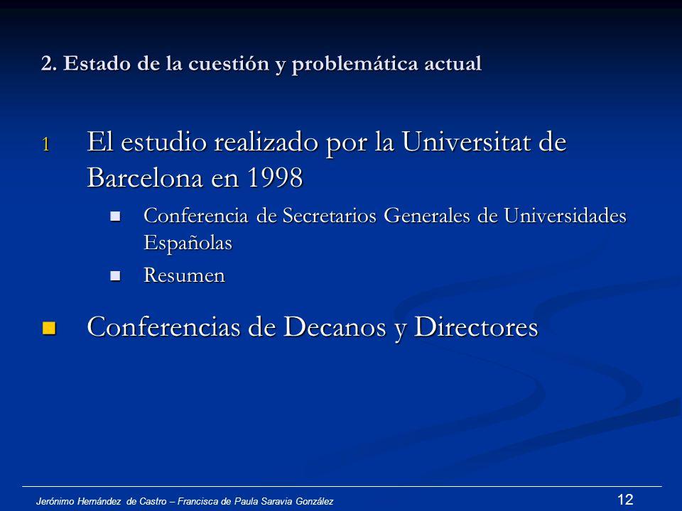 Jerónimo Hernández de Castro – Francisca de Paula Saravia González 11 Trajes académicos en EE.UU.