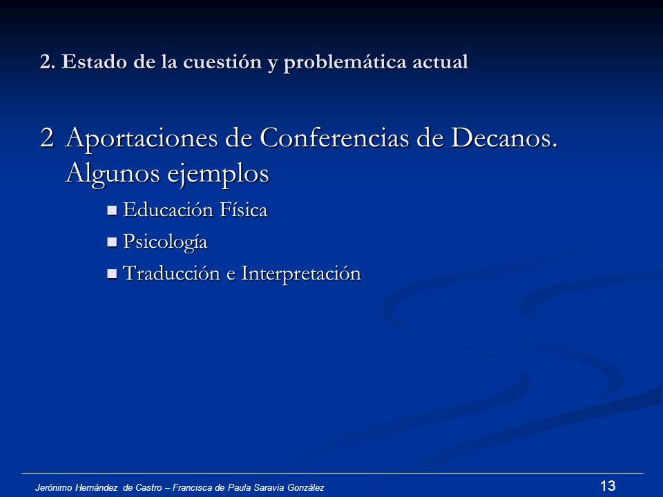 Jerónimo Hernández de Castro – Francisca de Paula Saravia González 12 2. Estado de la cuestión y problemática actual 1 El estudio realizado por la Uni